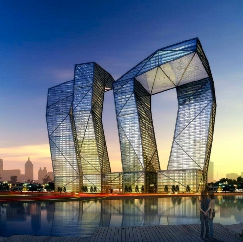 Architecture Buildings In India naga towers in gandhinagar, india